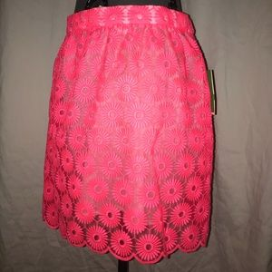 NWT Lilly Pulitzer Mimosa Skirt in Fiesta Pink